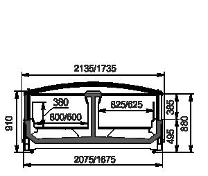 Urządzenia do żywności mrożonej Yukon cube MH 160/200 LT C 088-DLM