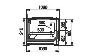 Urządzenia do żywności mrożonej Yukon cube MH 160/200 LT C 088-DLM TL z pokrywami