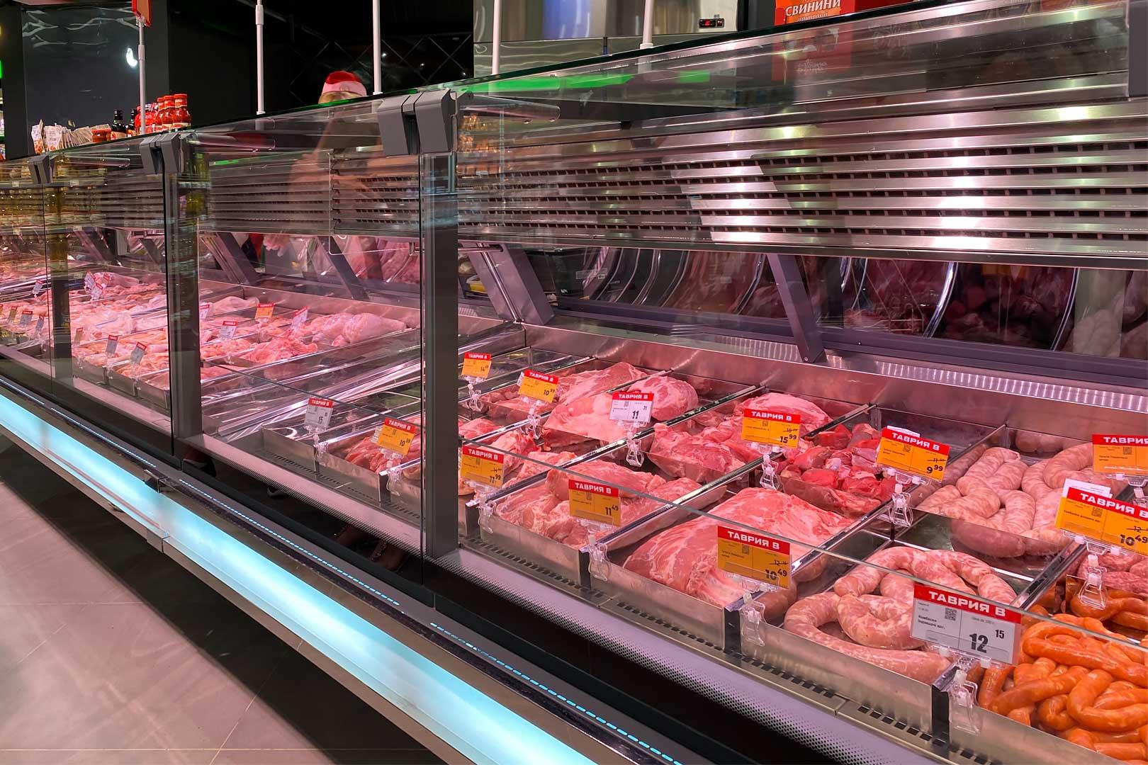Lady chłodnicze przeznaczone do sprzedaży mięsa Missouri cold diamond MC 115 meat PS 121-SLM