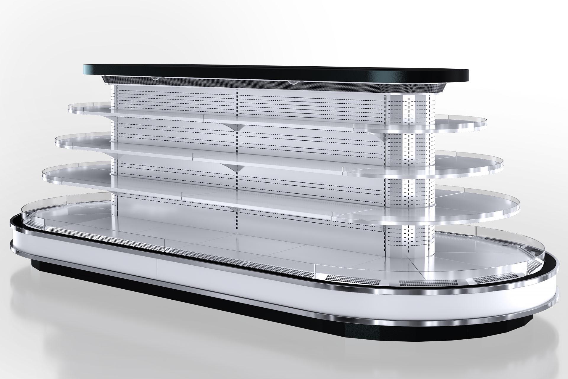 Refrigerated  semi-vertical cabinet Missouri cold diamond island 095/110 deli LF 150-DLM -  island version