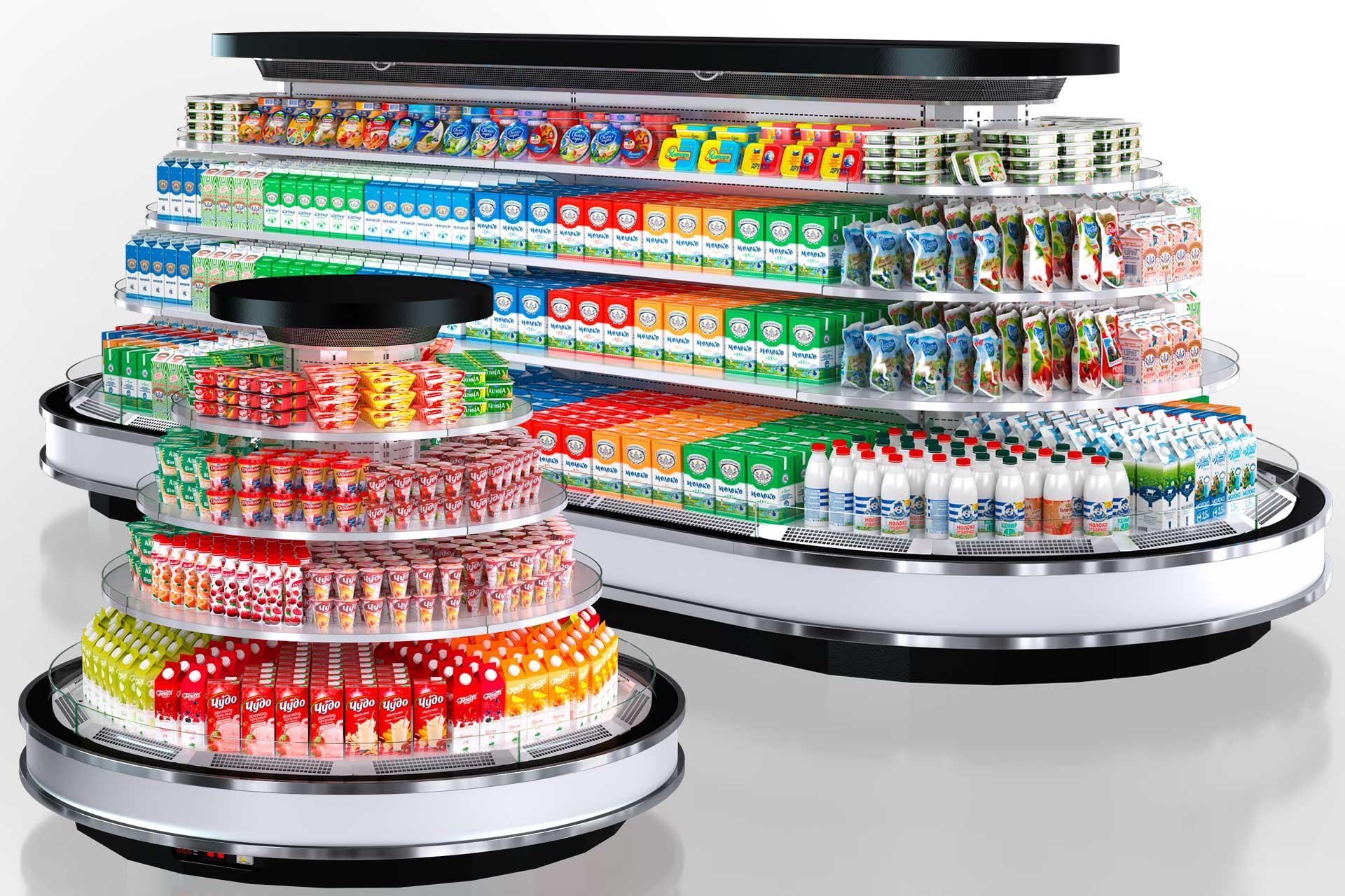 Refrigerated Semi-vertical cabinets Missouri cold diamond island LF MO 087/150 M