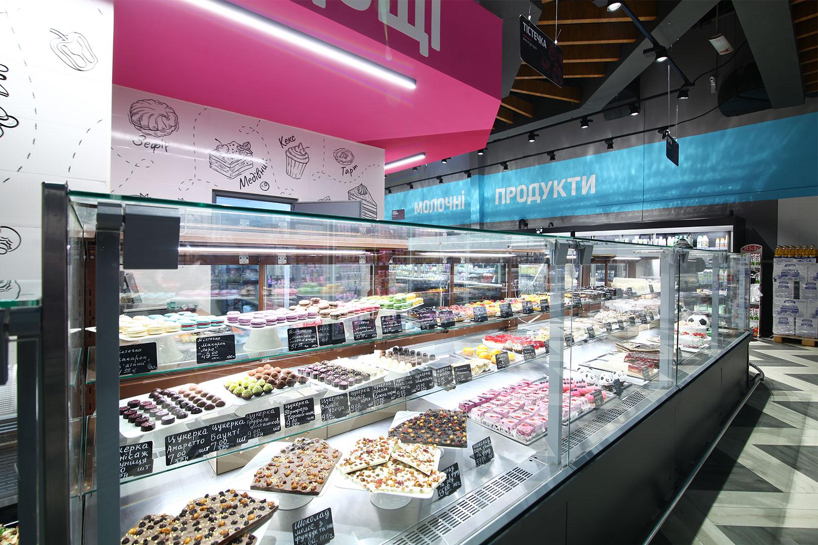 Confectionery counters Missouri MC 120 patisserie PS 130-DLM