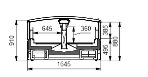 Frozen foods unit Yukon MH 160 LT C 088-DLM