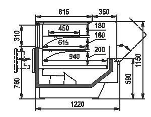 Refrigerated counters Missouri Enigma MC 120 Patisserie OS 115-DLM