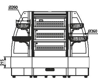 Semi-vertical cabinets Indiana eco ASV 070 MT O 130-DLM