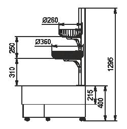 Semi-vertical cabinetsIndiana eco NSV 070 O 130-ES-90 - right angular elements