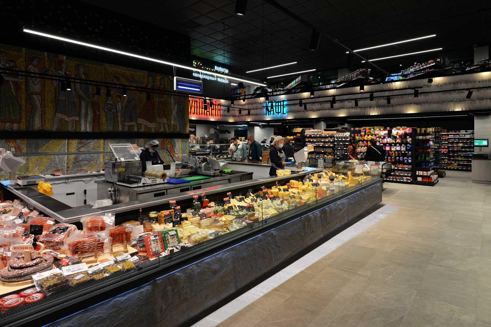 "Refrigerated counters Missouri MC 120 deli self 086, supermarket ""Semya"""