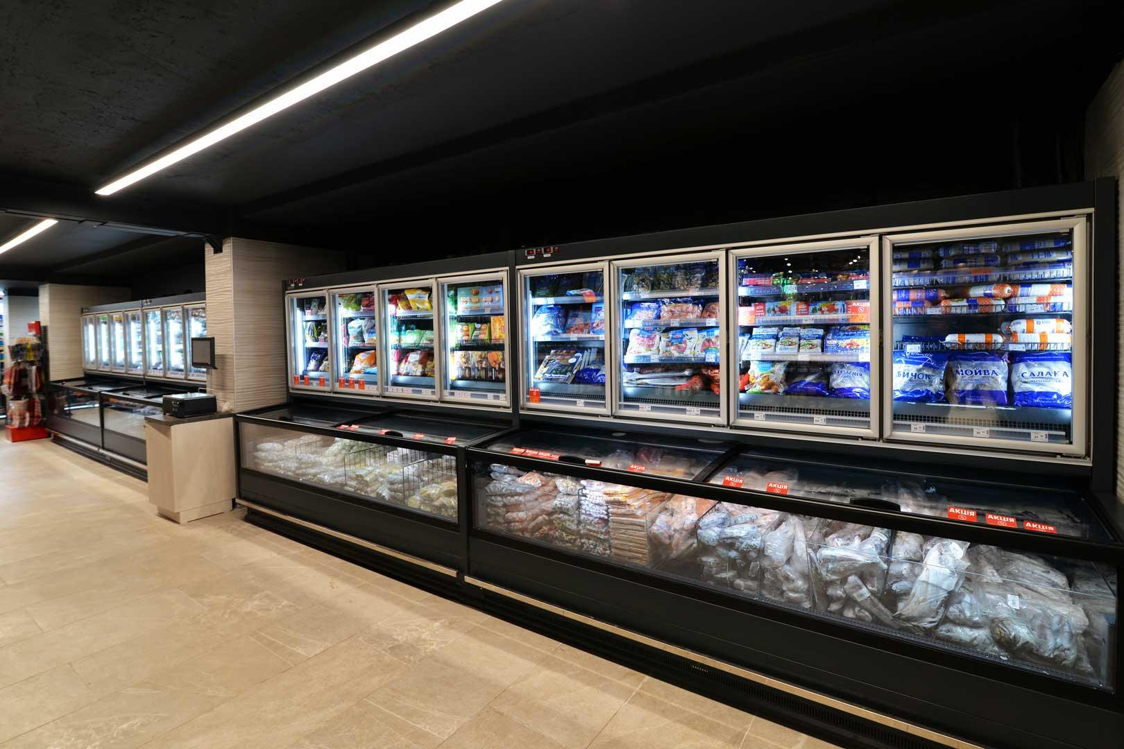 """Frozen foods units Аlaska combi 2 MHV 110 LT D C 200, supermarket """"Semya"""""""