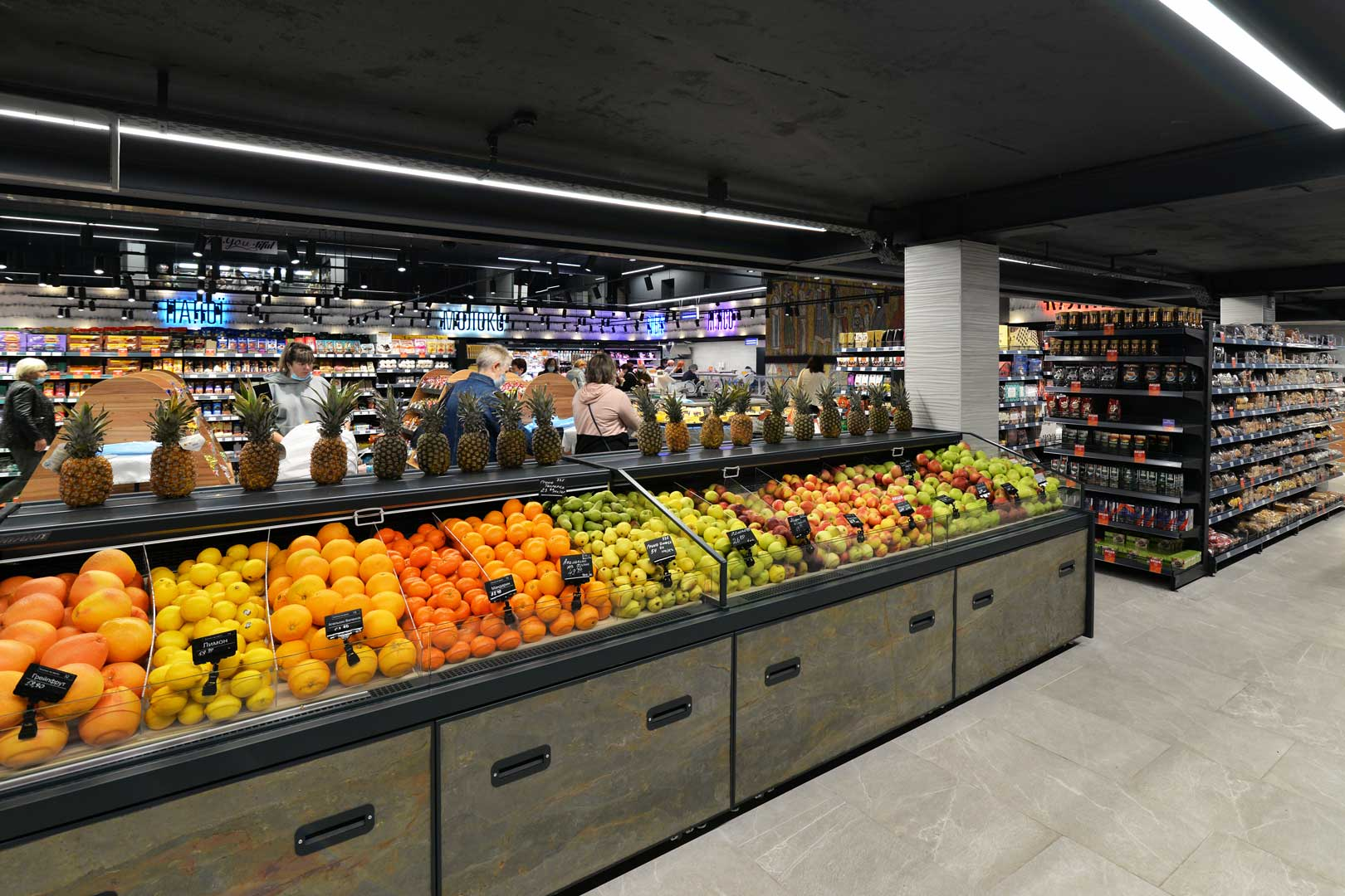 """Specialized units for vegetables and fruit sales Мissouri MC 110 deli VF PP self 110, supermarket """"Semya"""""""