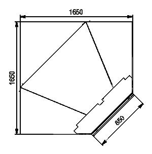 Regały chłodnicze Louisiana 5 MV 105 MT O 210-DLM-IS90